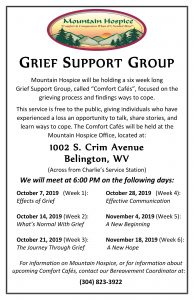 Grief Support Group - Week 3 @ Mountain Hospice