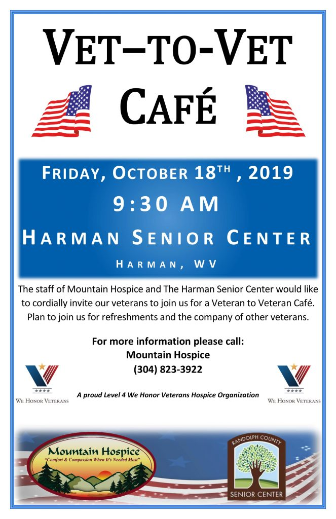 Vet-to-Vet Café at Harman Senior Center @ Harman Senior Center