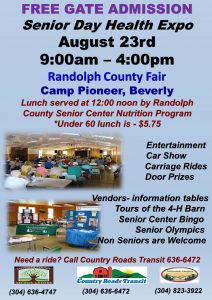 Senior Day @ The Randolph County Fair @ Camp Pioneer - Beverly, WV