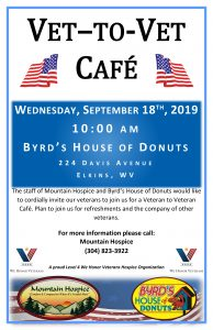 Vet-To-Vet Cafe at Byrd's House of Donuts @ Byrd's House of Donuts